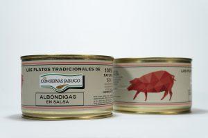 Lata de ALbondigas en Salsa conservas Jabugo